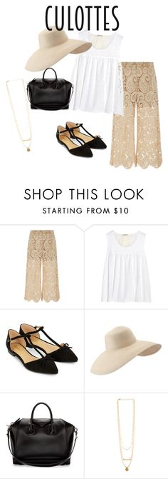 """Untitled #5"" by jazmynewashington on Polyvore featuring self-portrait, Clu, Accessorize, Eric Javits, Givenchy, TrickyTrend and culottes"