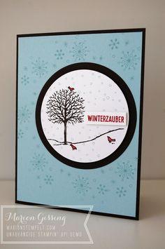 Stampin' Up, Weihnachtskarte, Fröhliche Stunden, Schneeflocken