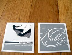 Business Cards Square Graphic Design Nubby Twiglet