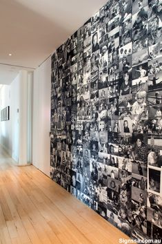 Gallery Wall and Photo Inspiration Ideas Mural de fotos na parede Photo Wall Collage, Picture Wall, Collage Walls, Wall Design, House Design, Design Art, Feng Shui, Black And White Photo Wall, Black White