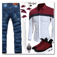 """""""Casual Look :: MensWear"""" by jecakns ❤ liked on Polyvore featuring men's fashion, menswear, jeans, casualoutfit, MensFashion and rosegal"""