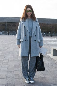 Dressed-down minimalism at its best. Street Style at London Fashion Week #LFW
