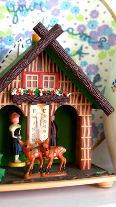 alpine kitsch, but I loved ours as a kid! It magically predicted rain and fair skies!!