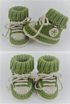 Sweet baby shoes with a sneaker look - knitting instructions via Makerist.de,Sweet baby shoes in sneaker look - knitting instructions via Makerist. Baby Booties Knitting Pattern, Baby Shoes Pattern, Crochet Baby Shoes, Crochet Baby Booties, Baby Knitting Patterns, Knitting Designs, Baby Patterns, Crochet Patterns, Knitting For Kids