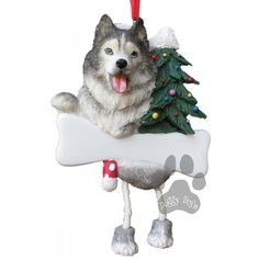 Dangling Leg Siberian Husky Dog Christmas Ornament http://doggystylegifts.com/products/dangling-leg-siberian-husky-dog-christmas-ornament