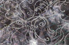 3 X 28/30 Strip Blackn Tie Dye Abstract Hologram by KrisBuildaBow