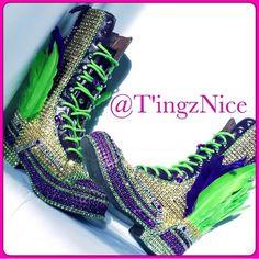 Carnival Boots...#TingzNice #FootCandy #Carnival #Custom #Boots #Caribbean #ReadyForDeRoad