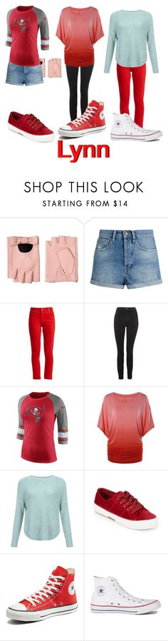 """""""Lynn's Closet"""" by dairyqueen55 ❤ liked on Polyvore featuring Karl Lagerfeld, Raey, RE/DONE, Topshop, NIKE, JDY, Lauren Ralph Lauren and Converse"""