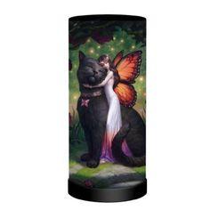 Cat and Fairy Lamp by James Ryman Fairy Lamp, Black B, Fall Hair, Flower Crown, Batman, Fantasy, Superhero, Fairies, Artist