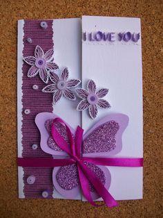 Birthday card Valentines greeting card Handmade by HandmadeTedy