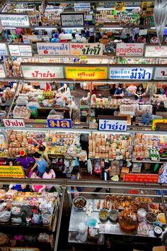 View of Warorot Market in Thailand