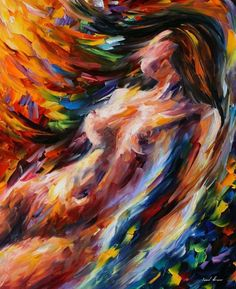Flow of Love — PALETTE KNIFE Oil Painting On Canvas By Leonid Afremov - 2014