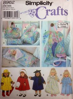 Sewing Pattern 18 Doll Clothes Tote Garment Bag by RaimentReSource, $6.49