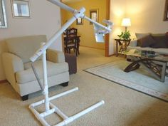 Diy Ipad Stand, Tablet Stand, Pvc Pipe Crafts, Pvc Pipe Projects, Diy Tripod, Home Studio Setup, Home Studio Photography, Apartment Design, Interior