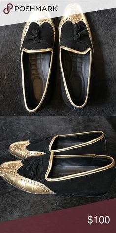 43ce3339042 Shop Men s PressPlvy Clothing Gold Black size 9 Loafers   Slip-Ons at a  discounted price at Poshmark.