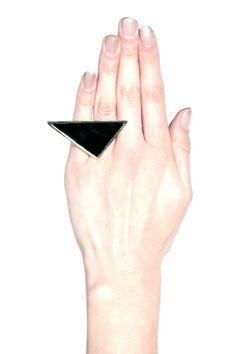Lauren Triangular Geo Ring