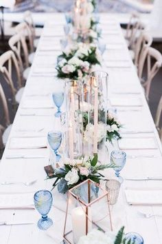 Romantic Reception Table Setting