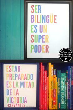 Spanish Posters - Motivational Quotes - Bilingual Bundle