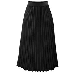 da103cc2f Bohemian Skirts Womens Long Skirts Womens Elastic Waist Pleated Skirt Solid  Casual Beach Boho Chiffon Skirt Summer Style Ladieswear