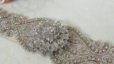 Bridal Sash / Rhinestone Sash /  Ribbon Sash by MarieandAntoinette,