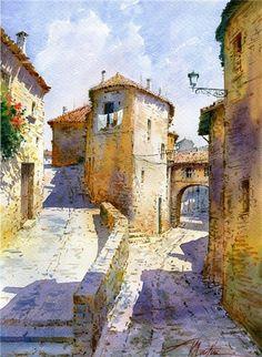 西班牙水彩画家Faustino Martin