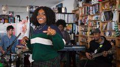 The power of language to penetrate a difficult subject, and the power of performance to share that language, are the gifts Noname brought to the Tiny Desk.