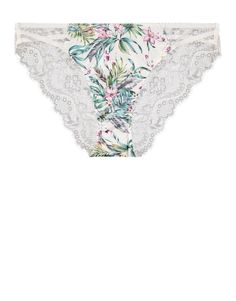 Floral Satin Inset Brazilians   Woolworths.co.za Scalloped Lace, Lingerie Collection, Lace Back, Lingerie Sleepwear, Floral Tie, Satin, Cotton, How To Wear, Clothes