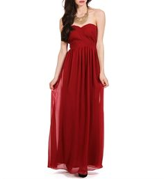 Asmara-Burgundy Prom Long Dress from Windsor. Dresses For Formal Events, Formal Gowns, Strapless Dress Formal, Burgundy Bridesmaid Dresses Long, Burgundy Dress, Long Dresses, Bridesmaids, Debut Dresses, Dress Outfits