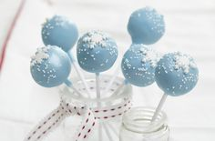 Snowflake cake pops recipe