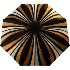 Raindance Umbrellas - Cityslick Peach & Aqua (16.115 HUF) ❤ liked on Polyvore featuring accessories