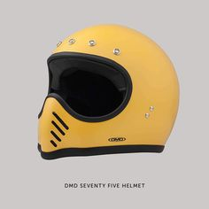 The Bell Moto 3 helmet from the 1970s is an all-time design classic. Unfortunately, a lid made forty years ago will not offer much protection any more. But if you love the Moto 3 style, check out DMD's new Seventy Five helmet. It has a carbon/Kevlar shell, a removable and washable liner, and full ECE homologation.