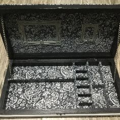 Old backgammon case turned into a jewelry case inside