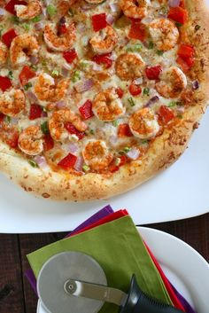 Cajun Shrimp Pizza.  For my Cajun. :)