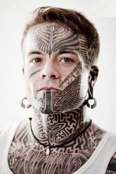 Facial tattoos or face tattoo designs are a modern trend with variety in liking. But these tattoo face styles including the tribal face tattoos and many others are tattoos on face that most of us would actually like. Face Tattoos For Men, Facial Tattoos, Head Tattoos, Body Art Tattoos, Wing Tattoos, Tatoos, Tribal Face Tattoo, Geometric Tattoo Arm, Tribal Tattoos