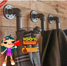 Find More Coat Racks Information about 3 Pcs American Country Piped Coat Racks Retro Loft Industrial Clothing Hooks Industry Iron Pipe Coat Hook  Z42,High Quality hook chandelier,China hook boot Suppliers, Cheap hook coat from Pipe love lamp on Aliexpress.com