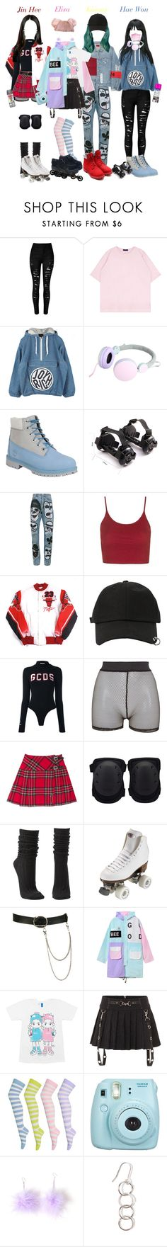 """""""G.U.C. - YOUTH"""" by candyhyperkidd ❤ liked on Polyvore featuring Joyrich, Timberland, Heelys, Faith Connexion, Topshop, StyleNanda, GCDS, Bitching & Junkfood, Charlotte Russe and Riedell"""