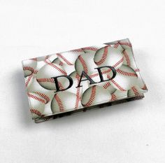 DAD Fabric Checkbook Cover for Duplicate Checks by QuiltSewCover, $16.00
