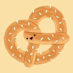 Here's a sweet little pretzy for a midnight snack! #illustration #dailydrawing #pretzel