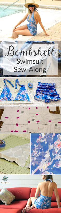 This DIY bombshell swimsuit sew-along shows you all the steps you need to make your very own custom bathing suit. With Spoonflower's sport lycra you can get any designs and colors on your unique summer swimsuit! Gorgeous print by Wirksten here: spoonflower.com/fabric/756794 Click to see the full sew-along.