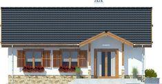 DOM.PL™ - Projekt domu ARC Ares bez garażu CE - DOM AR8-76 - gotowy koszt budowy Cabana, Design Case, Modern House Design, Exterior, Outdoor Decor, House Ideas, Home Decor, Plantation Houses, Small Condo