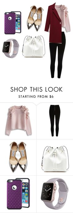 """""""Sans titre #185"""" by leoniemika on Polyvore featuring mode, Chicwish, River Island, Jimmy Choo, Sole Society, women's clothing, women, female, woman et misses"""