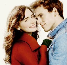 Lily Collins and Sam Claflin - Love Rosie need to go and watch this film so much when it comes out!!!