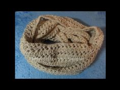 Шарф снуд связан ажурным узором. Вязание спицами. Knitting(Hobby) - YouTube
