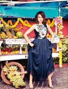 Sonakshi Sinha posing for Vogue magazine India.