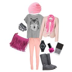 """soft pink wolf"" by nadeanindita on Polyvore"