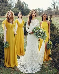 Spring is here! In love with these beautiful bridesmaid dresses (oh the color!)
