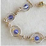 Oval Links Bracelet made out of jewelry wire, beads and jewelry supplies using WigJig jewelry making tools.