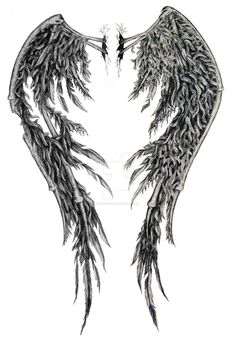 fallen Angel Wings Back Tattoo Designs Broken Wings Tattoo, Angel Wings Tattoo On Back, Fallen Angel Wings, Fallen Angel Tattoo, Angel Wings Drawing, Demon Wings, Black Angel Wings, Feather Angel Wings, Ange Demon