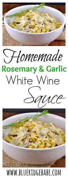 Homemade restaurant style creamy white wine sauce!