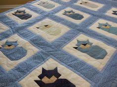 All Blue Sleeping Cats Throw.jpg